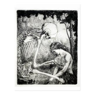 Liebkosung der Todespostkarte Postkarten