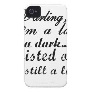Liebling bin ich eine Dame ein dunkles verdrehtes iPhone 4 Cover