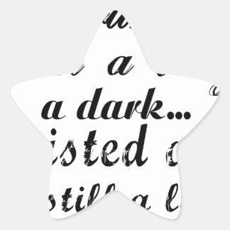 Liebling bin ich eine Dame ein dunkles verdrehtes Stern-Aufkleber
