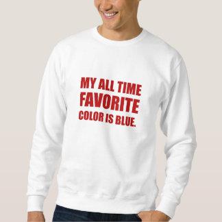 Lieblingsfarbblaues Rot Sweatshirt