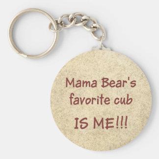 Lieblingsjunges Mutter Bears Schlüsselanhänger