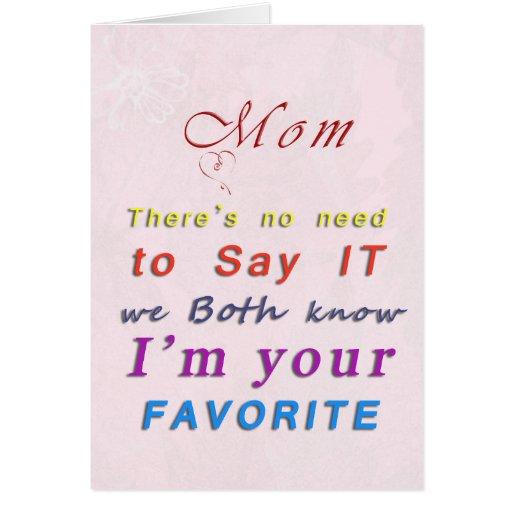 Lieblingskarte der Mutter der Mammas kindertages Grußkarte