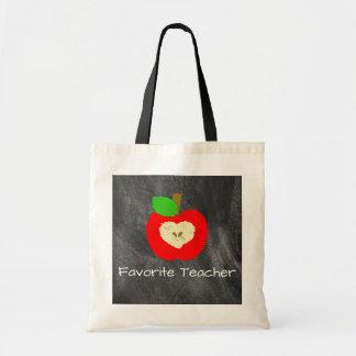 Lieblingslehrer Apple auf Tafel-Taschen-Tasche Tragetasche