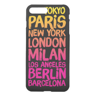 Lieblingsstädte Neon iPhone 8 Plus/7 Plus Hülle