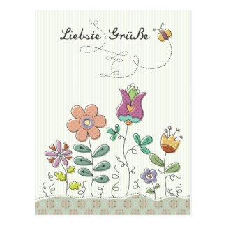 Liebste Grüße Postkarte