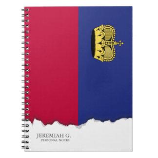 Liechtenstein-Flagge Notizblock