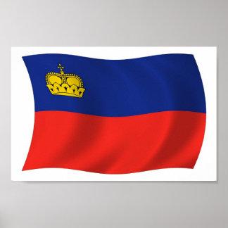 Liechtenstein-Flaggen-Plakat-Druck Poster