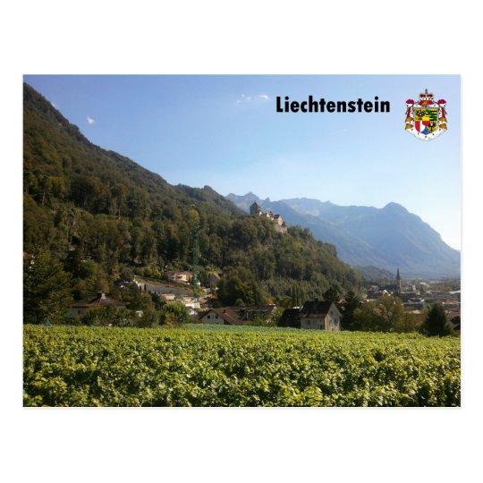 Liechtenstein mit Wappen / Liechtenstein with Coat Postkarte