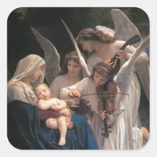 Lied der Engel Vintag Quadratischer Aufkleber