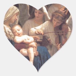 Lied der Engel - William-Adolphe Bouguereau Herz-Aufkleber