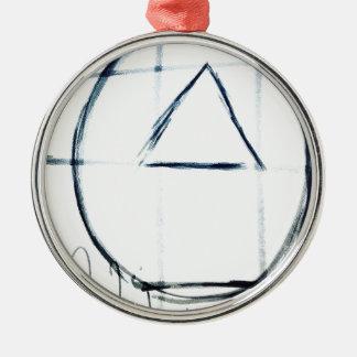 Lied-Linie Silbernes Ornament