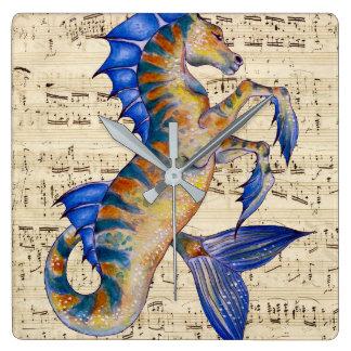 Lied von Ozean Quadratische Wanduhr