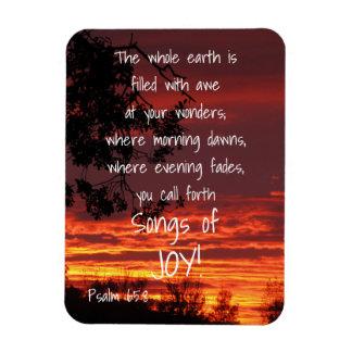 Lieder des Freude-Bibel-Vers-Magneten Magnet