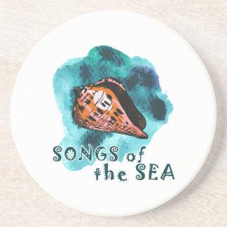 Lieder des Meeres Sandstein Untersetzer
