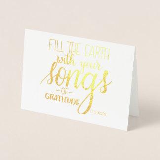 Lieder von Dankbarkeit, C.H. Spurgeon Quote, Folienkarte