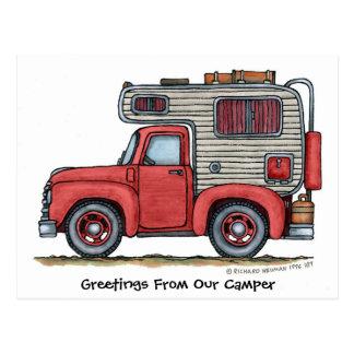 Lieferwagen-LKW-Camper RV-Postkarten Postkarte