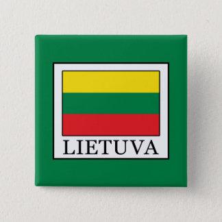 Lietuva Quadratischer Button 5,1 Cm