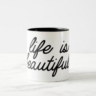 Life i beautifull zweifarbige tasse