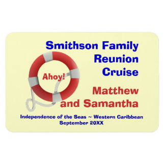 Life Ring Family Cruise Cabin Door Marker Magnet