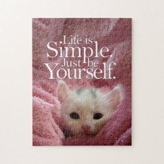 LifeIs einfaches BeYourself Kätzchen-motivierend Puzzle