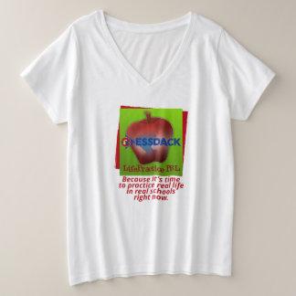 LifePractice PBL T-Shirt, plus sortiert Große Größe V-Ausschnitt T-Shirt