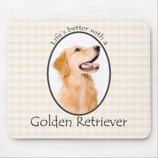 Lifes besseres goldenes Mousepad