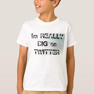 lightbkgrd, bin ich auf TWITTER WIRKLICH GROSS T-shirt