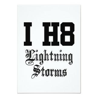 lightningstorms 12,7 x 17,8 cm einladungskarte