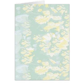 Lightshade Gelbgrün-Blumenschablone Karte