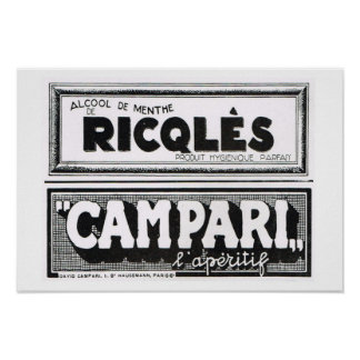 L'Iiustration 1931, Ricqles, Campari Plakate