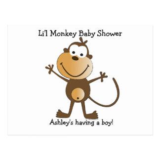 Li'l Affe-Babyparty-Postkarte laden ein Postkarte