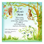 Lil Affe, Jungen-Babyparty-Einladung