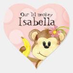 Lil Affe, Mädchen-Baby-Duschen-Aufkleber-Siegel