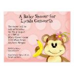 Lil Affe, Mädchen-Babyparty-Postkarte laden ein