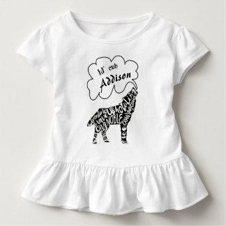 Lil CUB der Nam und der Wolf Ihr Kindes mit Kleinkind T-shirt