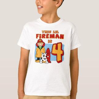 Lil Feuerwehrmann-4. Geburtstag T-Shirt