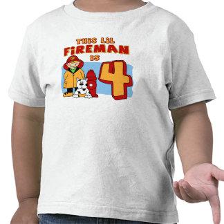 Lil Feuerwehrmann-4 Geburtstag T-shirt