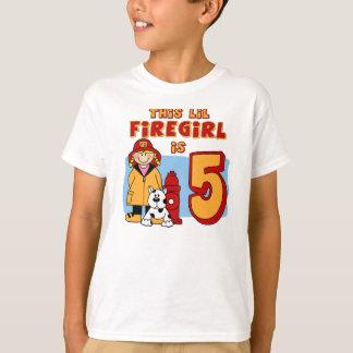 Lil Firegirl 5. Geburtstag T-Shirt
