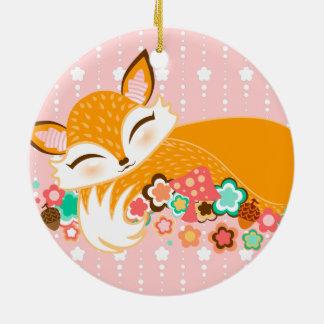 Lil Foxie CUB - niedliche kundenspezifische Keramik Ornament