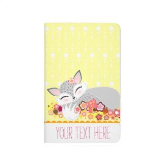 Lil Foxie CUB - niedliche kundenspezifische Taschennotizbuch