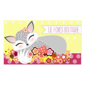 Lil Foxie CUB - niedliche kundenspezifische Visitenkarten