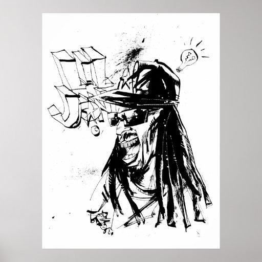 """Lil Jon """"Zusammenarbeit durch Jim Mahfood und Lil  Plakatdrucke"""