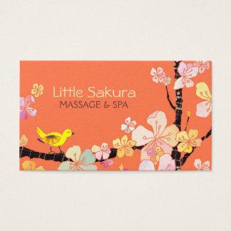 Lil Kirschblüte Vogel-Massage + Visitenkarte