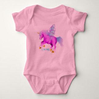 * ' Lil rosa Unipeg Baby Strampler