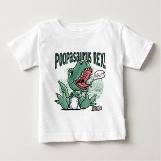 Lil T Rex Poopasaurus Rex Baby T-shirt