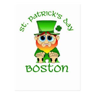 Lil ~ Tag St. Patricks Geschwätz Boston Postkarte