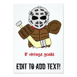 Lil Vintager HockeyGoalie 12,7 X 17,8 Cm Einladungskarte
