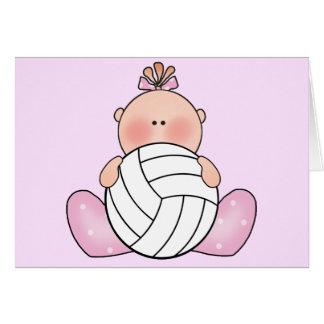 Lil Volleyball-Mädchen Mitteilungskarte