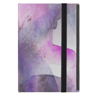lila abstrakte Kunst des nahtlosen Kubismus iPad Mini Etui