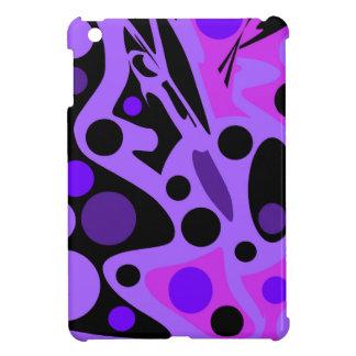Lila abstrakter Dekor iPad Mini Cover